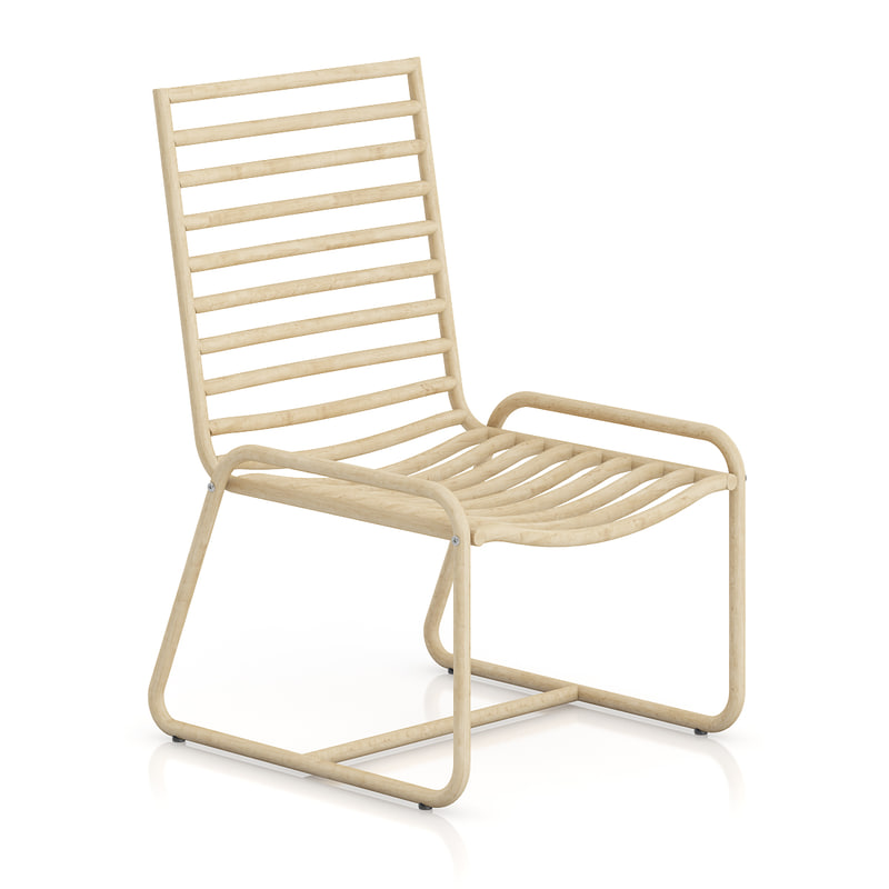 3d max simple wooden chair