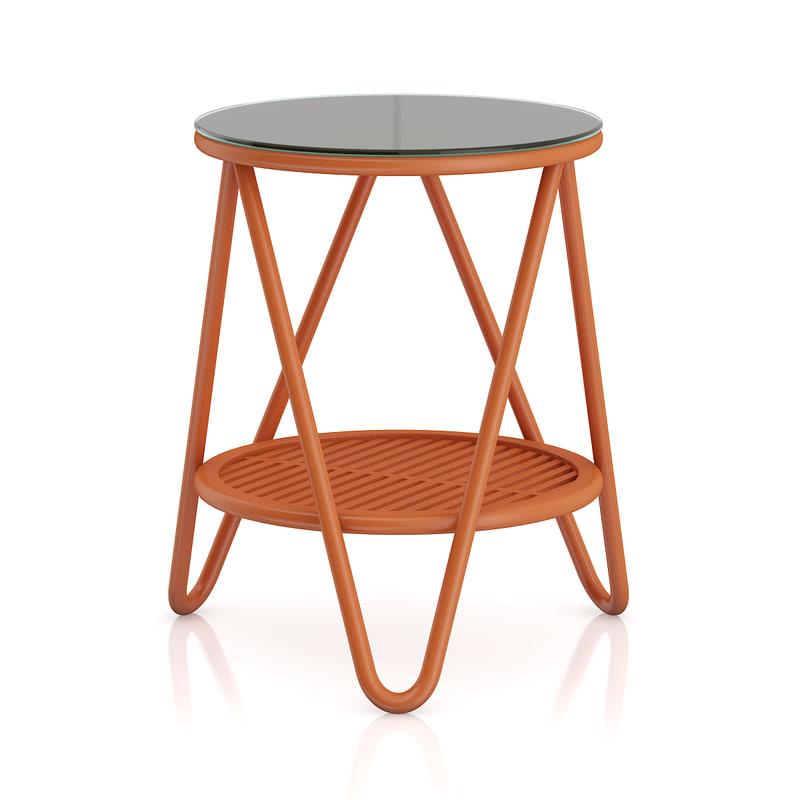 3d max orange coffeetable