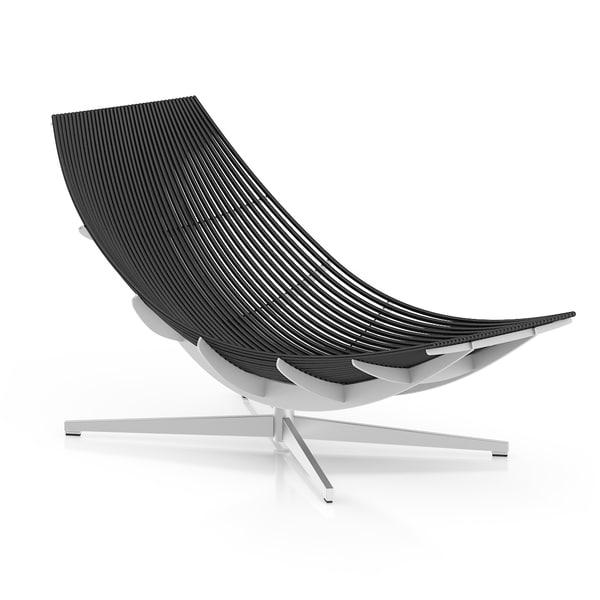 modern black lounge chair 3d model
