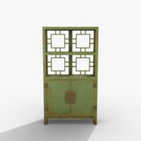 3d oriental cabinet model