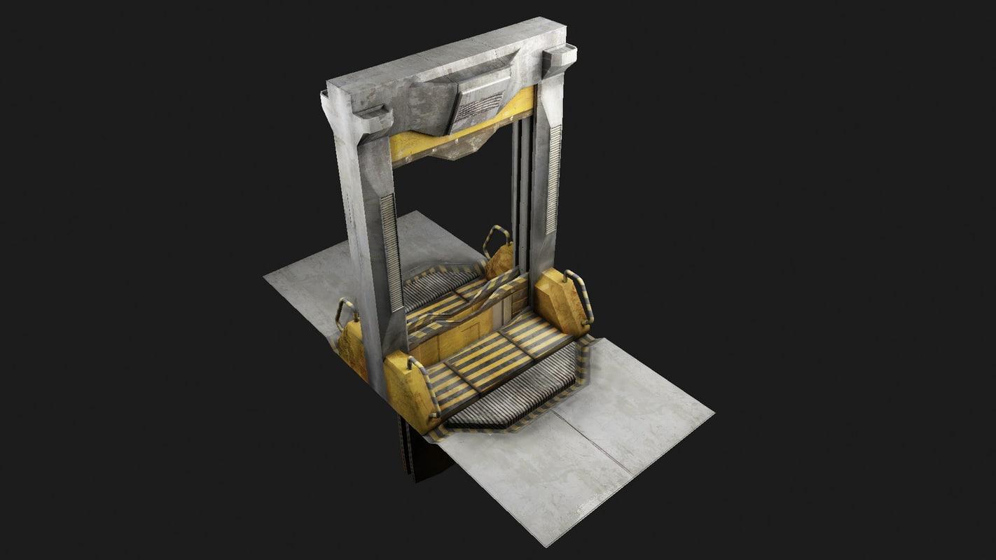 scifi door 001 3d model