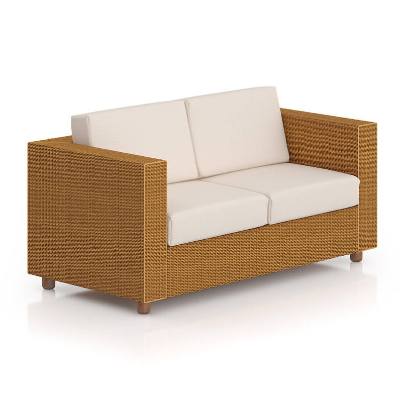 wicker sofa 3d model