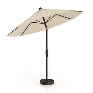3d model beige sunshade umbrella