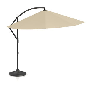 3d beige sunshade umbrella model