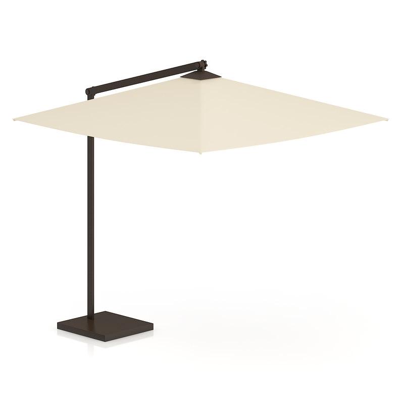 max square beige sunshade umbrella