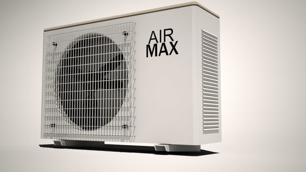 outdoor air conditioner 3d model