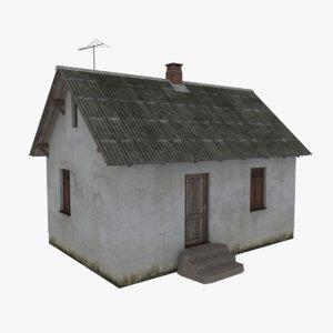 rural cottage 3d obj
