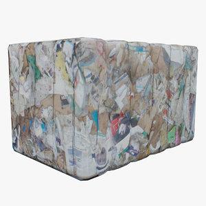 3d model of paper waste