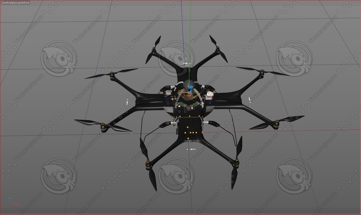 c4d octocopter hd