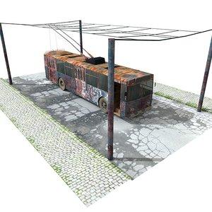 abandoned bus 3d model