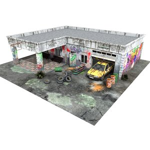 3d model of games ready house