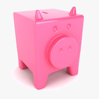 3d model of piggy bank pig