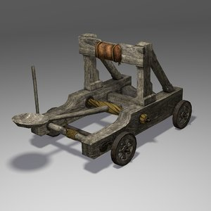 catapult wood 3d blend