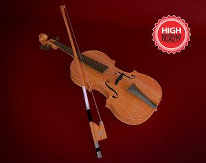 3d violin bow