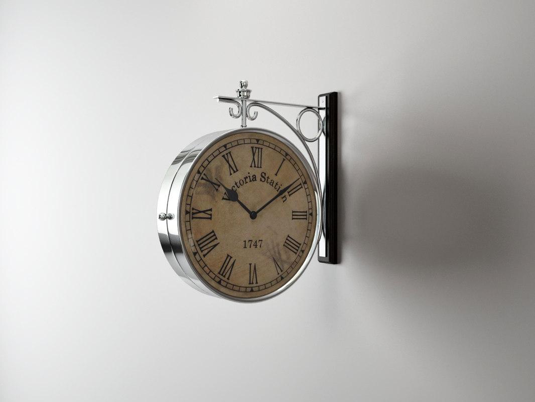 clock station 104408 eichholtz 3d model