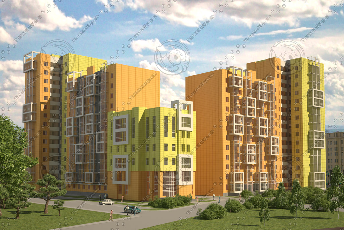 3d model residential complex