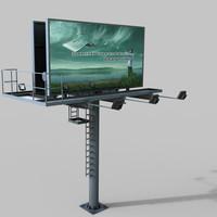 3d model highway billboard