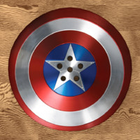 cap shield button 3d obj
