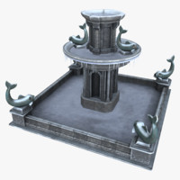 asset fountain 3d model