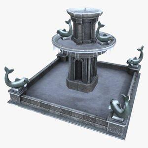 asset fountain 3d model