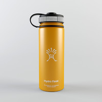 Flask Insulated Water Bottle - 18 oz Wide - Hydro