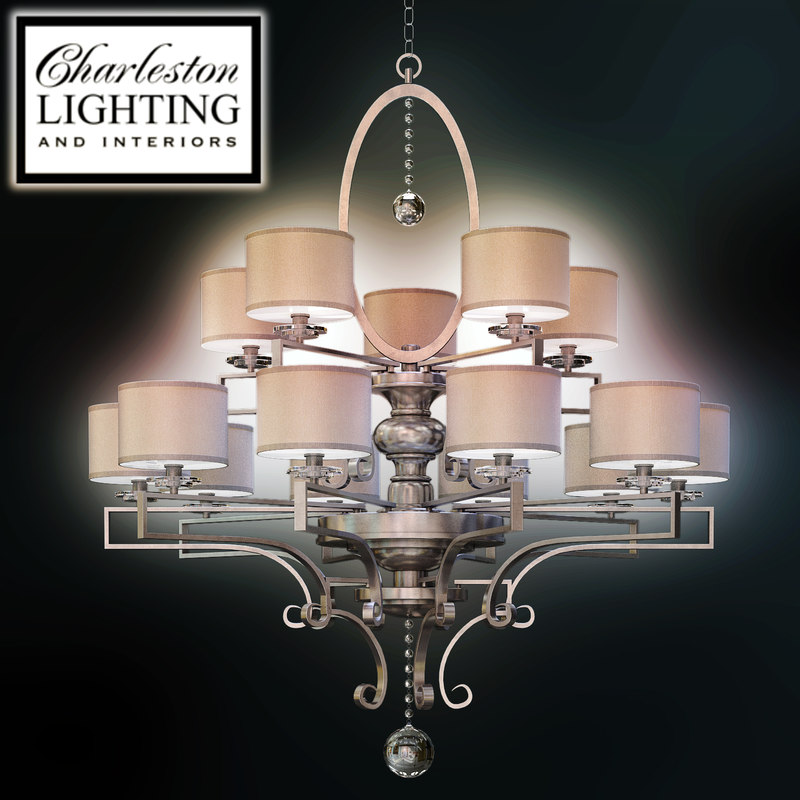 Charleston Lighting And Interiors Fif Light Chandelier 000658