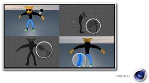 3dsmax character crash bandicoot redesign