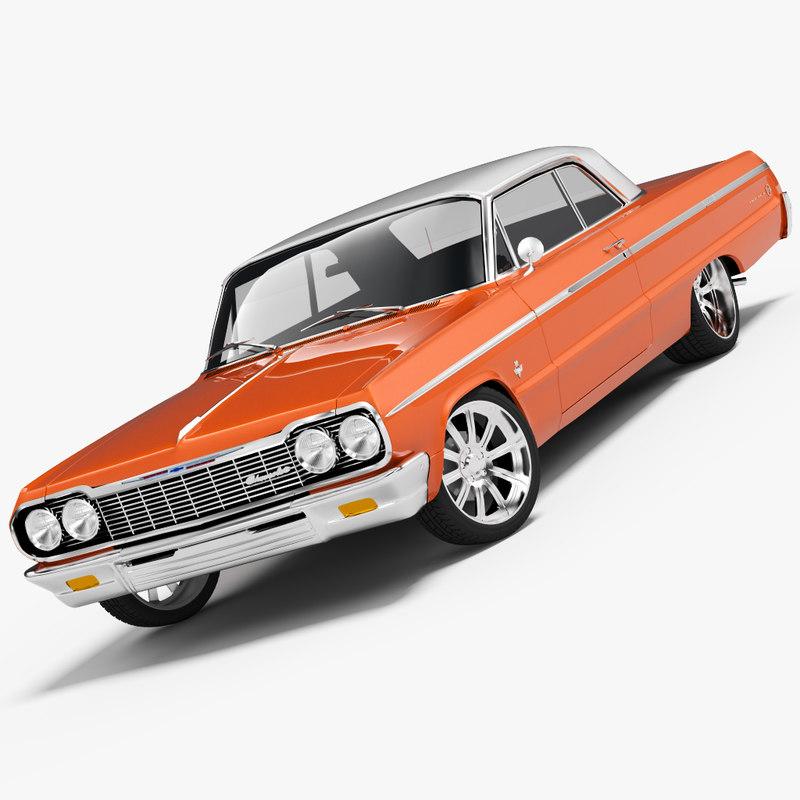 3ds chevrolet impala coupe 1964