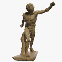 statue borghese gladiator 3d max