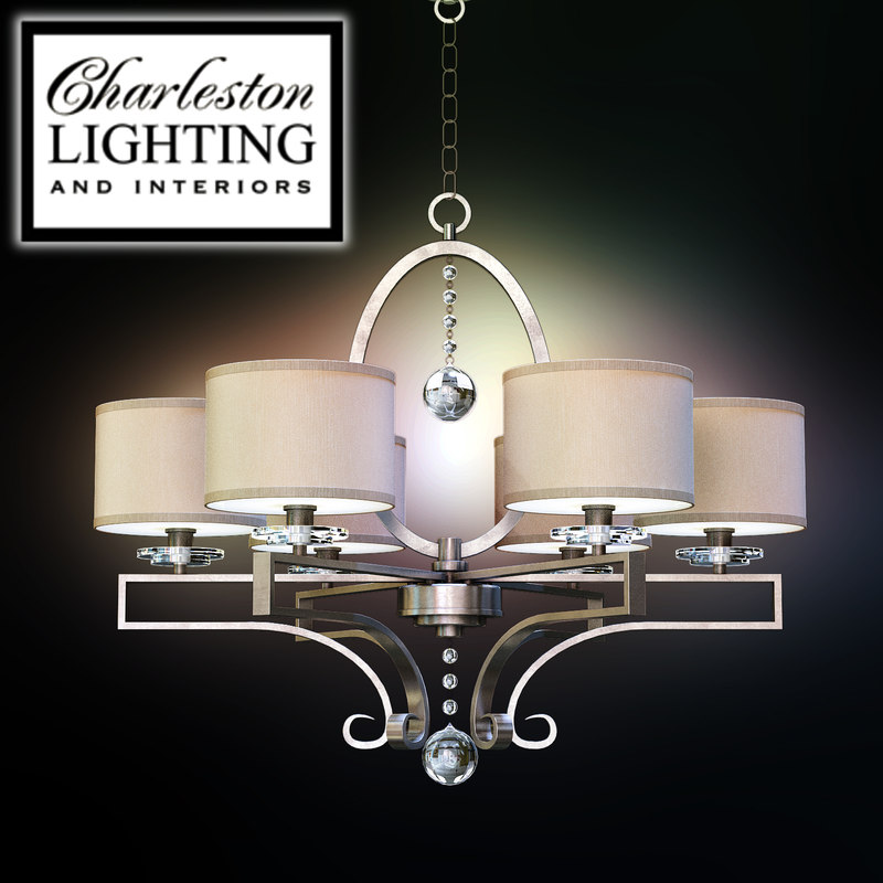 Charleston Lighting And Interiors Six Light Transitional Chandelier 313266