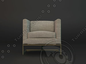 3d model armchair dae