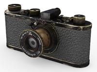 3d model leica 0-series vintage camera