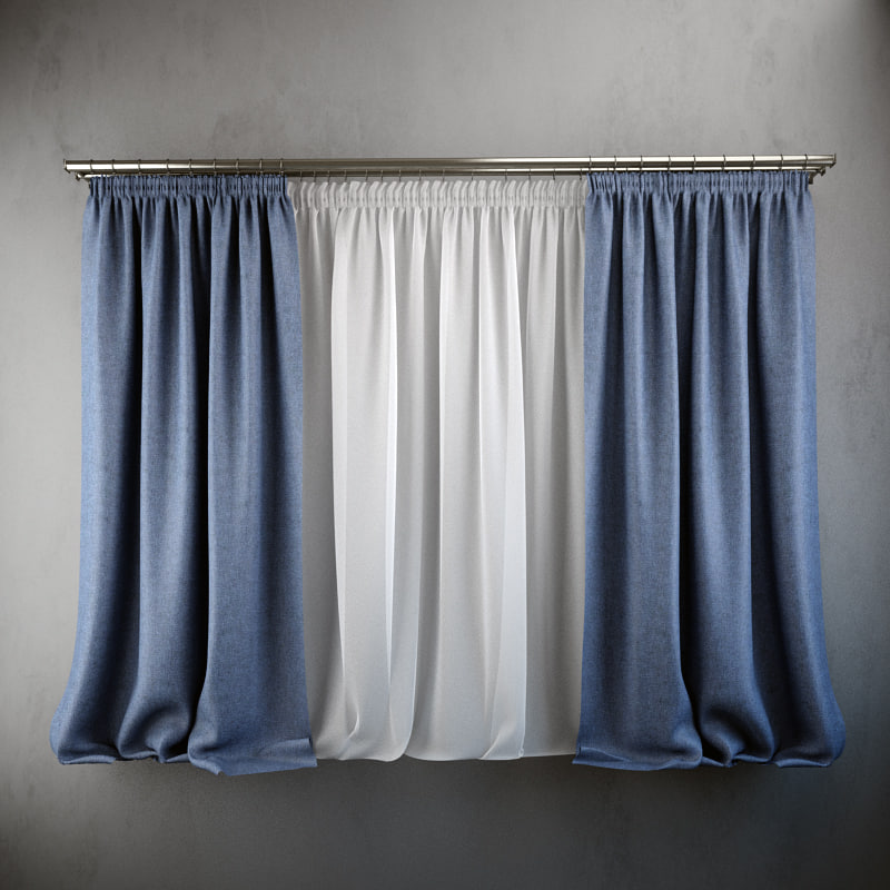 3d curtains blinds modern style model