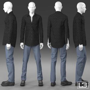 man mannequin 3d max