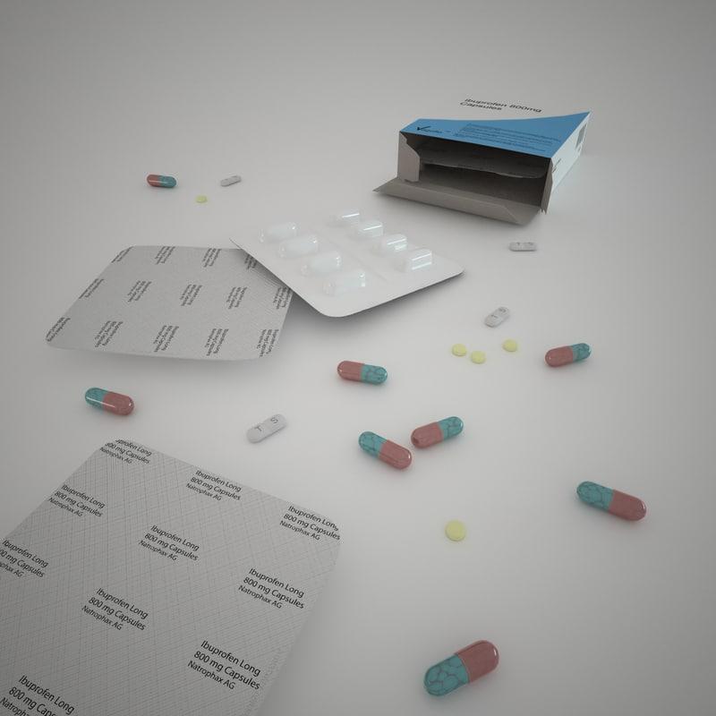 pills strip 3ds