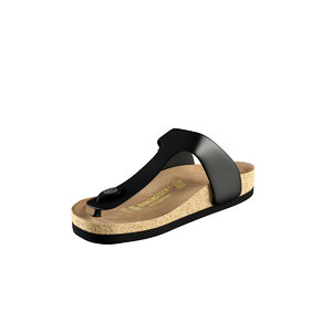 3d model birkenstock slipper