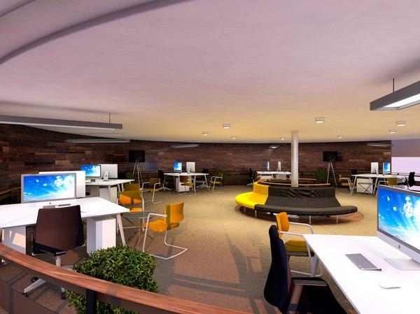 3d office scene