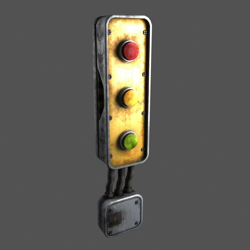 scifi electrical control box 3d model