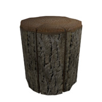 Stump Tree Low Poly