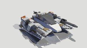snowspeeder lego rigged 3d obj