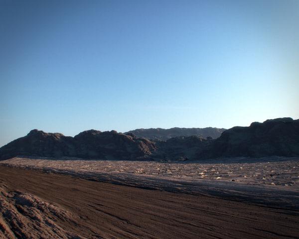 3d realistic desert model