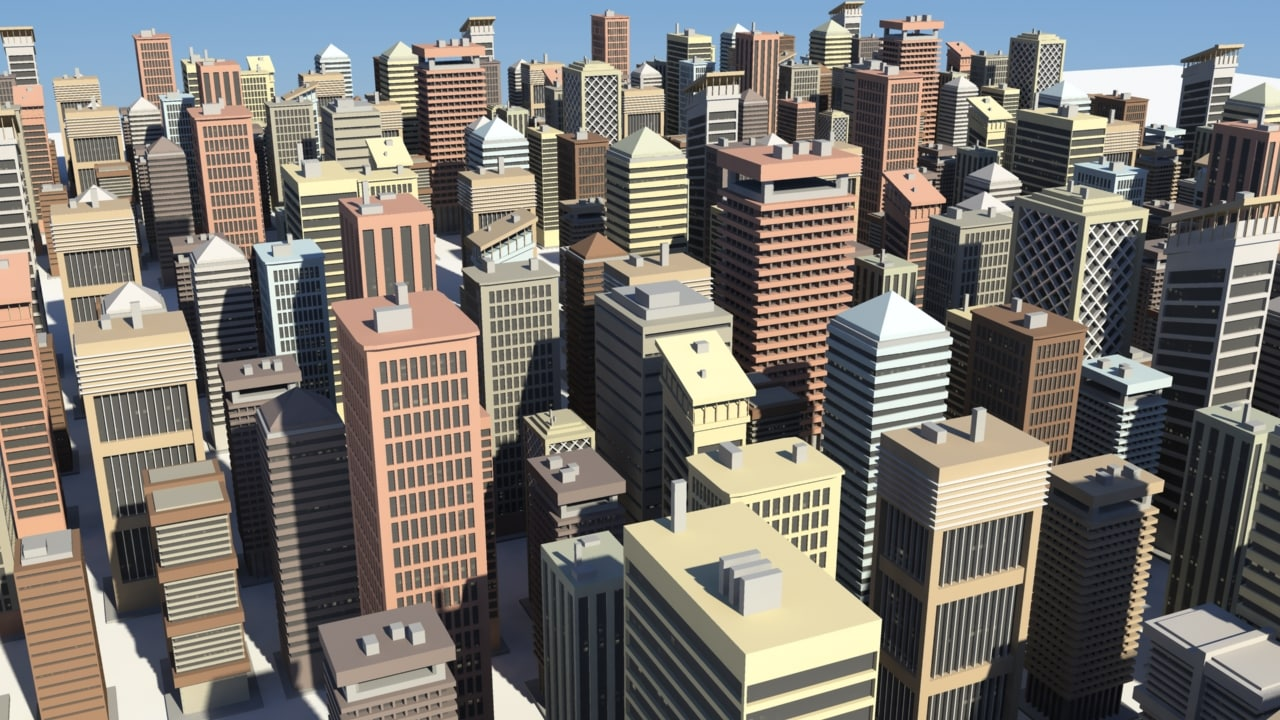 cityscape buildings 3d x