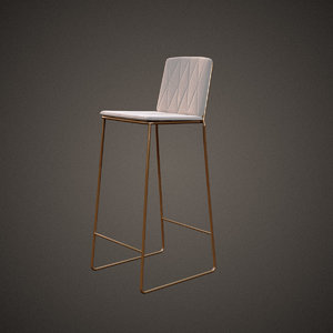 jardan seb kitchen bar stool 3d model