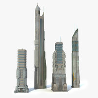 Sci fi City Set 4 Futuristic