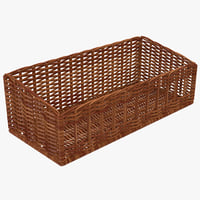 wicker basket 4 3d model