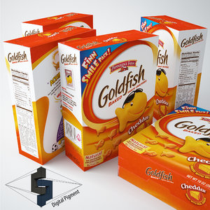 3d goldfish crackers box