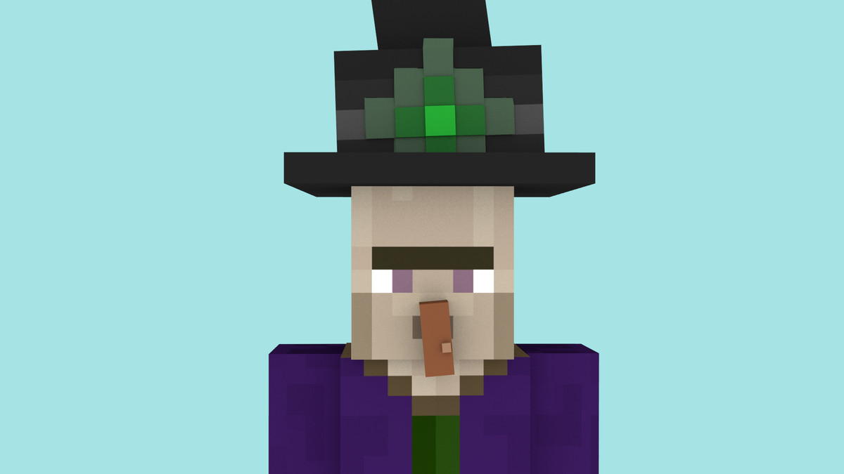 3d model minecraft witch rig
