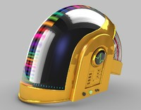 daft punk helmet 3d model