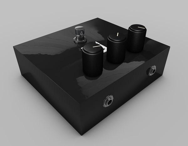 distortion pedal 3d 3ds