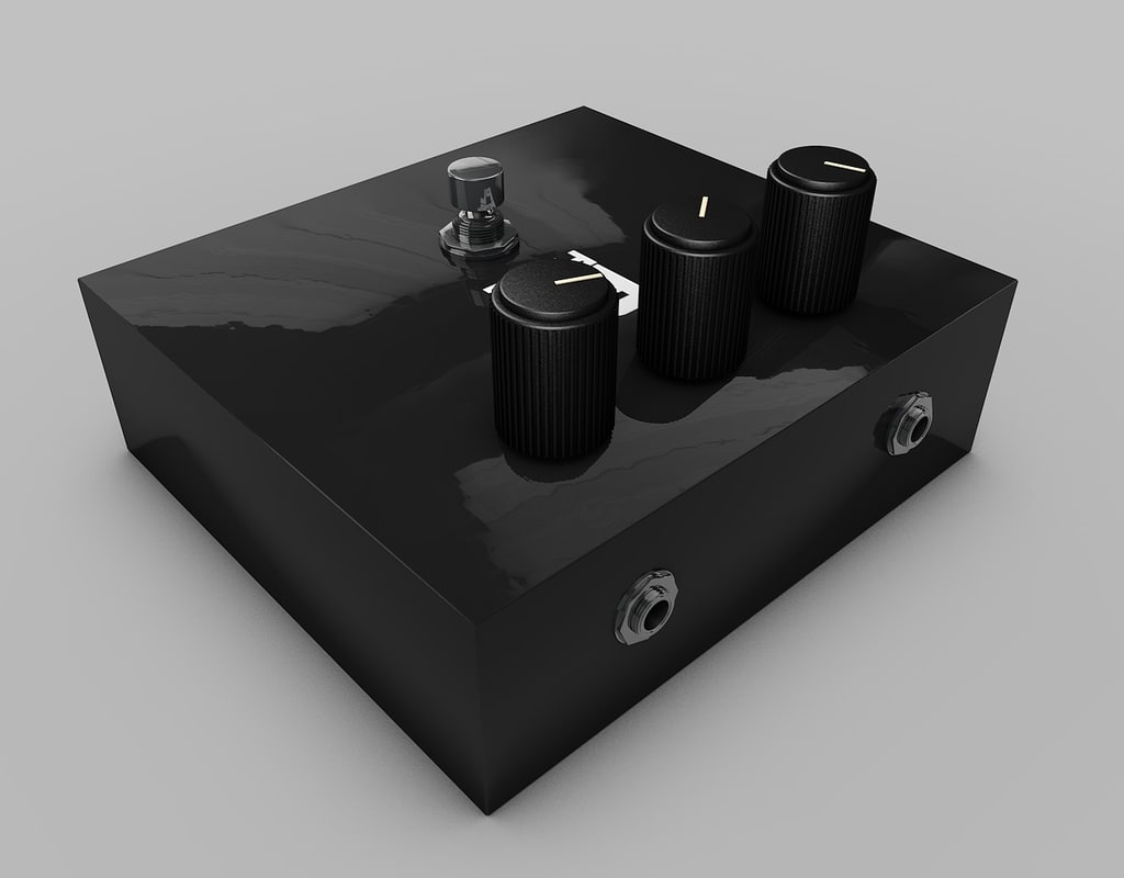 distortion pedal 3d 3ds